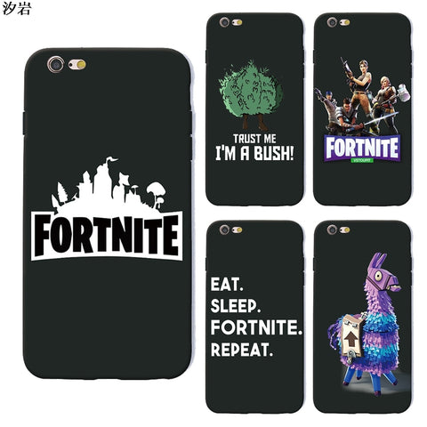 battle royale fortnite phone case soft Silicone black tpu for iPhone X 6 7 8 plus 5 5s 6s se for Apple 10 ten TPU-moslily