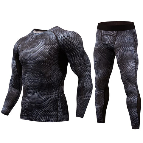 2018 MMA compression Men's Long sleeves t-shirts union suit men's t-shirts MMA rashgard kit Clothing Tops Tees-moslily