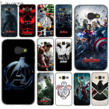 Lavaza Marvel Comics is The Avengers Case for Samsung Galaxy A3 A5 A7 A8 2015 2016 2017 2018 Note 8 5 4 3 2 Grand Prime-moslily