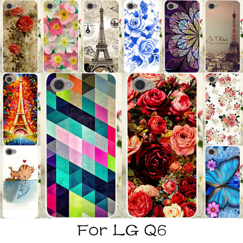 TAOYUNXI Phone Case For LG Q6 Case Silicone Plastic Colorful Rose Flower Cover For LG Q6a LG Q6 Plus M700AN X600 Covers Fundas-moslily
