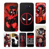 Cool Marvel Hero Deadpool design transparent clear hard case cover for Samsung Galaxy S9 S8 S7 Plus S6 S7 edge S5 S4 Mini-moslily