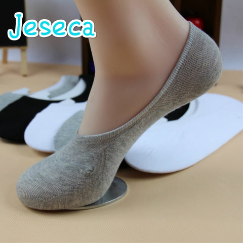 Unisex 1 Pair Men Women Low Cut Ankle Socks Casual Soft Cotton sock Loafer Boat Non-Slip Invisible No Show Socks 3 Colors-moslily
