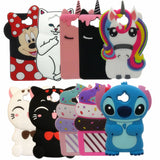 "For Huawei Y6 2017 Hot 3D Cartoon minnie Pig Unicorn Cupcake Silicon Soft Cover Case for Huawei Y6 2017 5.0"" Phone Back case-moslily"