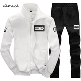 DIMUSI Autumn Men Sportwear Sets Tracksuit Male Outwear Sweatshirts Patchwork Men Hoodies Stand Collar Male Tracksuit 4XL,TA013-moslily