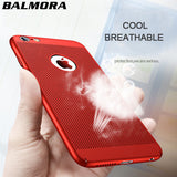 BALMORA Heat dissipation Utra Thin Case For iPhone X 6 6s plus Mobile Phone PC Hard Cases For iPhone 7 8 plus Protective Coating-moslily