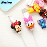 Cartoon Protector Cable Cord Saver Cover Coque for iPhone 4 4S 5 5S SE 5C 6 6S 7 8 Plus X Protective Sleeve Cat Phone Case Cable-moslily