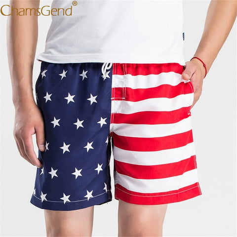 Mens American Flag Print Beach Swimwear Board Shorts Pants 80404-moslily