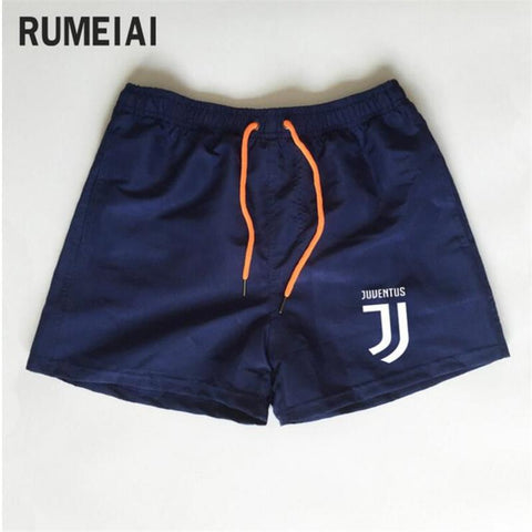 Shorts Mens Bermuda 2018 Summer Beach Men shorts Juventus Letter print Male Brand Men'S Short Casual Fitness Jogger 7 color XXXL-moslily
