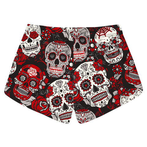 Hot Quick-drying Beach Shorts Fashion Cool Creative 3D Print Color skull Shorts Casual Hip Hop Style Men Boardshorts Clothing-moslily