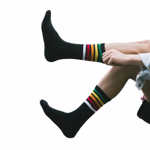 Fashion Autumn Long Striped Socks Men Warm Winter Cool Man Dress Socks 100% Cotton Mens Socks Luxury Brand calcetines hombre-moslily