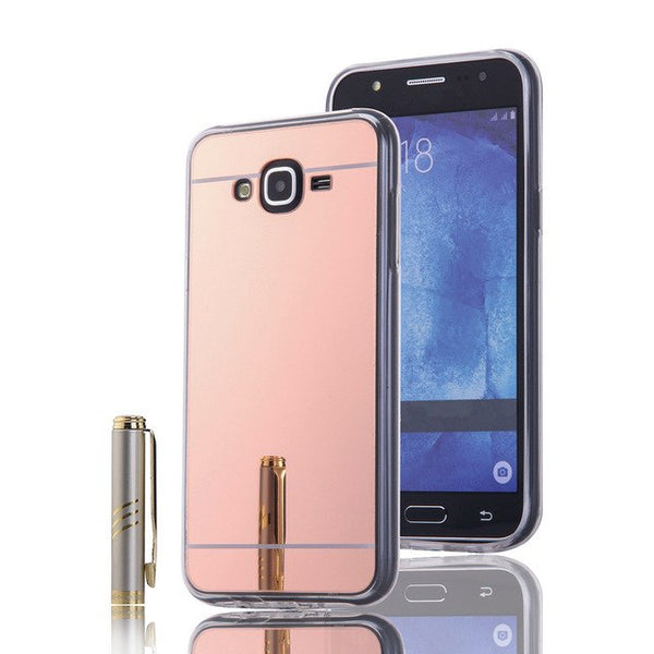 Luxury Plating Mirror Protector TPU Case For Samsung Galaxy A3 A5 A7 A8 2017 Plus 2018 J1 J2 J3 J5 J7 Prime G530 Soft Case Cover-moslily