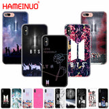 HAMEINUO BTS Bangtan Boys Coque NEW LOGO cell phone Cover case for iphone 8 7 6 6S 4 4s 5 5s SE 5c plus case for iphone X 10-moslily