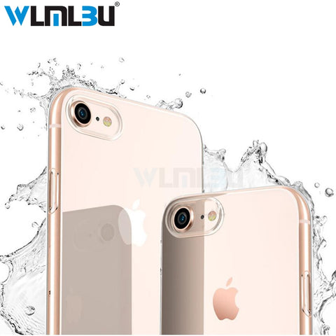 WLMLBU Ultra Thin Soft transparent TPU Case For iPhone 6 6s 7 8 Plus clear silicone Cover Case For iPhone 7 5 5s Phone Bag Case-moslily