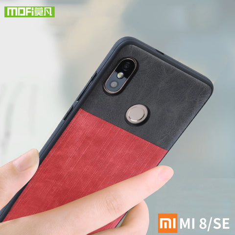For Xiaomi Mi8 case for Xiaomi Mi 8 SE Case cover silicone soft MI 8 Mofi For Xiaomi Mi8 Explorer case shockproof jeans leather-moslily