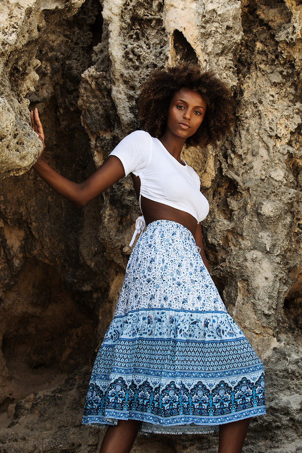 AURORA MIDI SKIRT - AQUARIUS