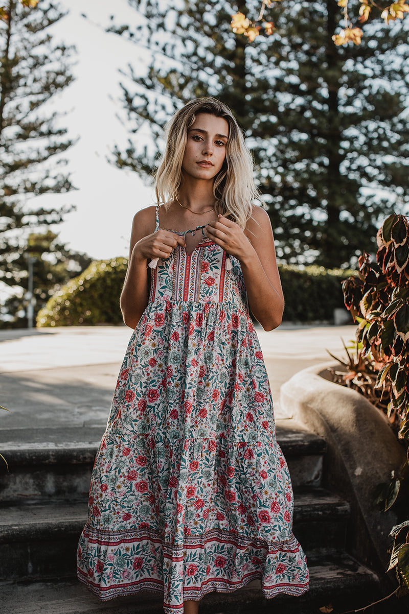 AZALEA STRAPPY SUNDRESS - ROSE QUARTZ