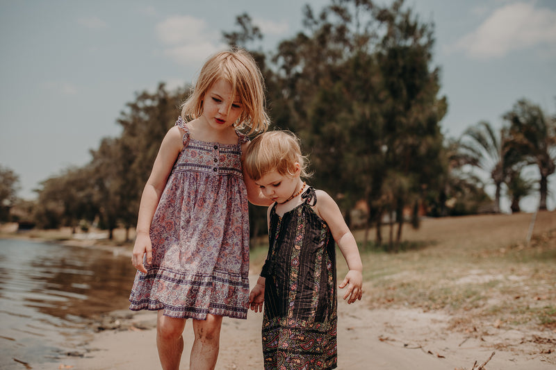 SUMMER DAZE KIDS DRESS - PAISLEY BORDER