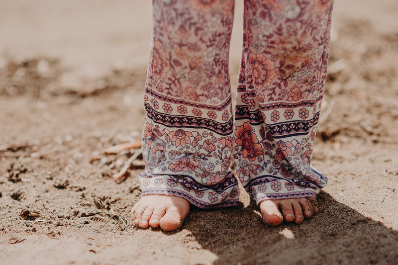 FLORAL BORDER MINI BELL BOTTOMS