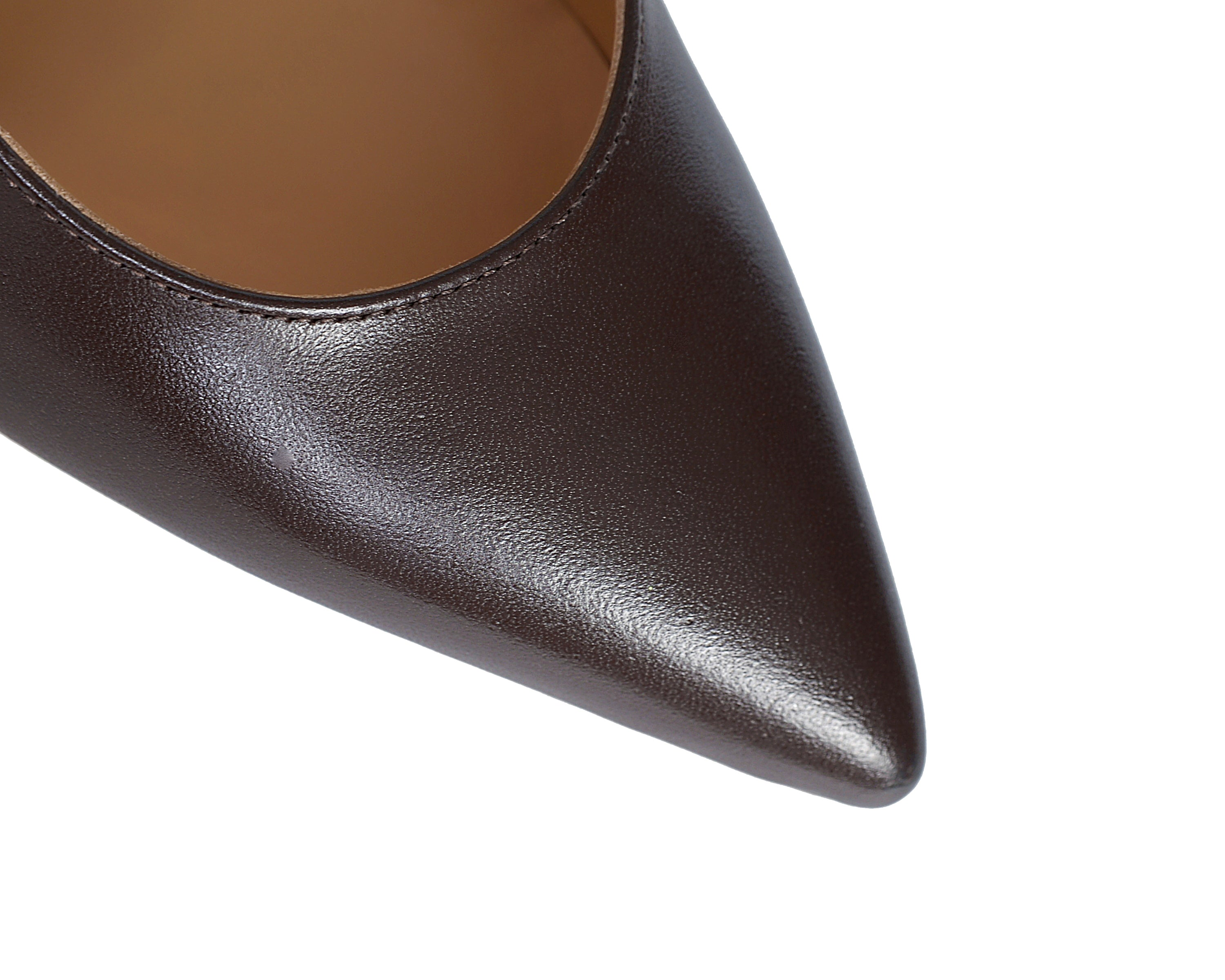 Cushioned insole women's heel comfortable Italian nude pumps. Black business shoes.