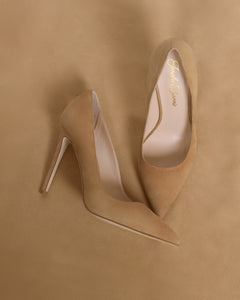 Tan Pumps. Women's Tan , cream,  golden High Heels. Nude Pumps. Nude Skin tone women's shoes. Business Shoes. Office Professional High Heels