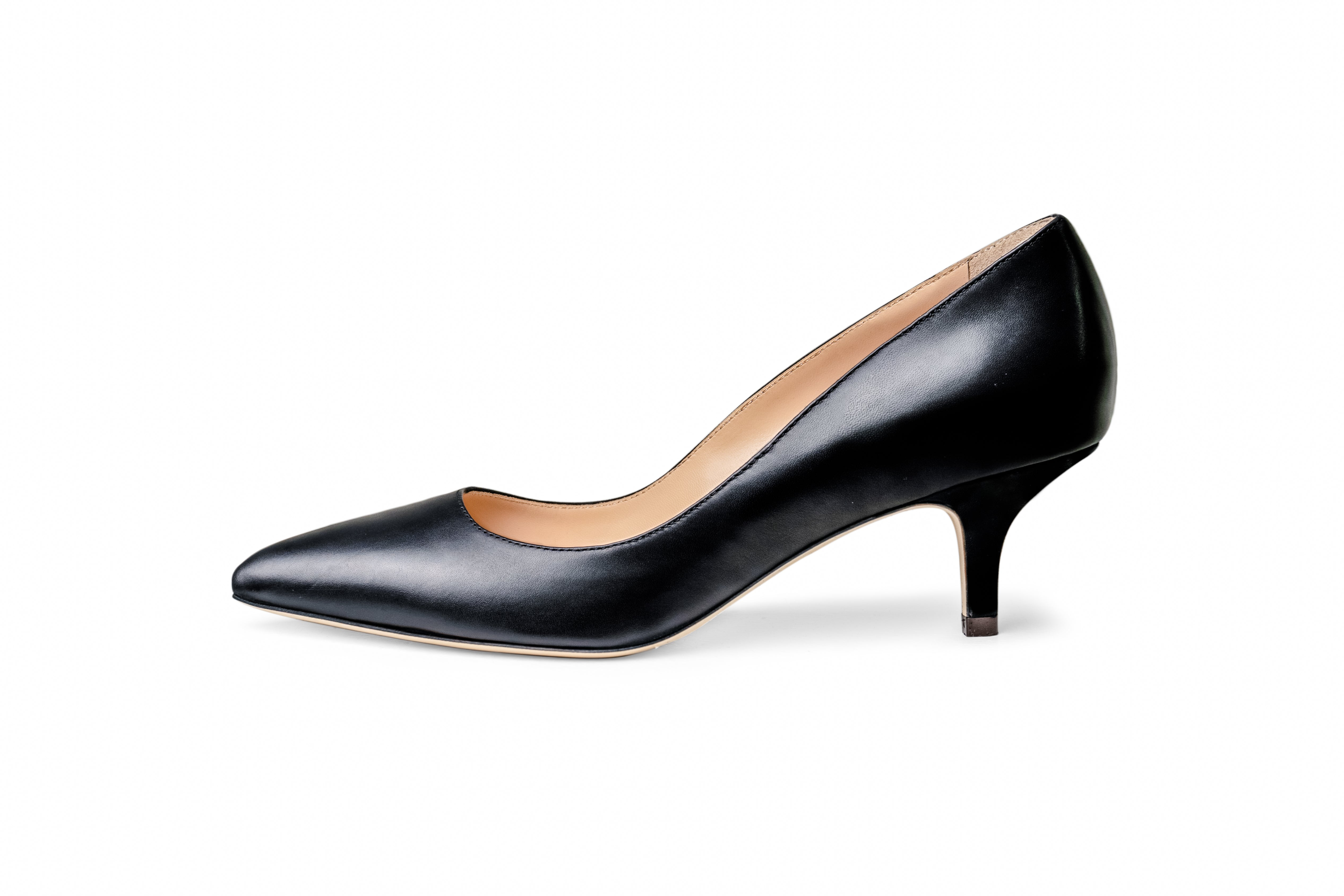 The Black Collection - 50mm Heel in Italian Nappa Leather