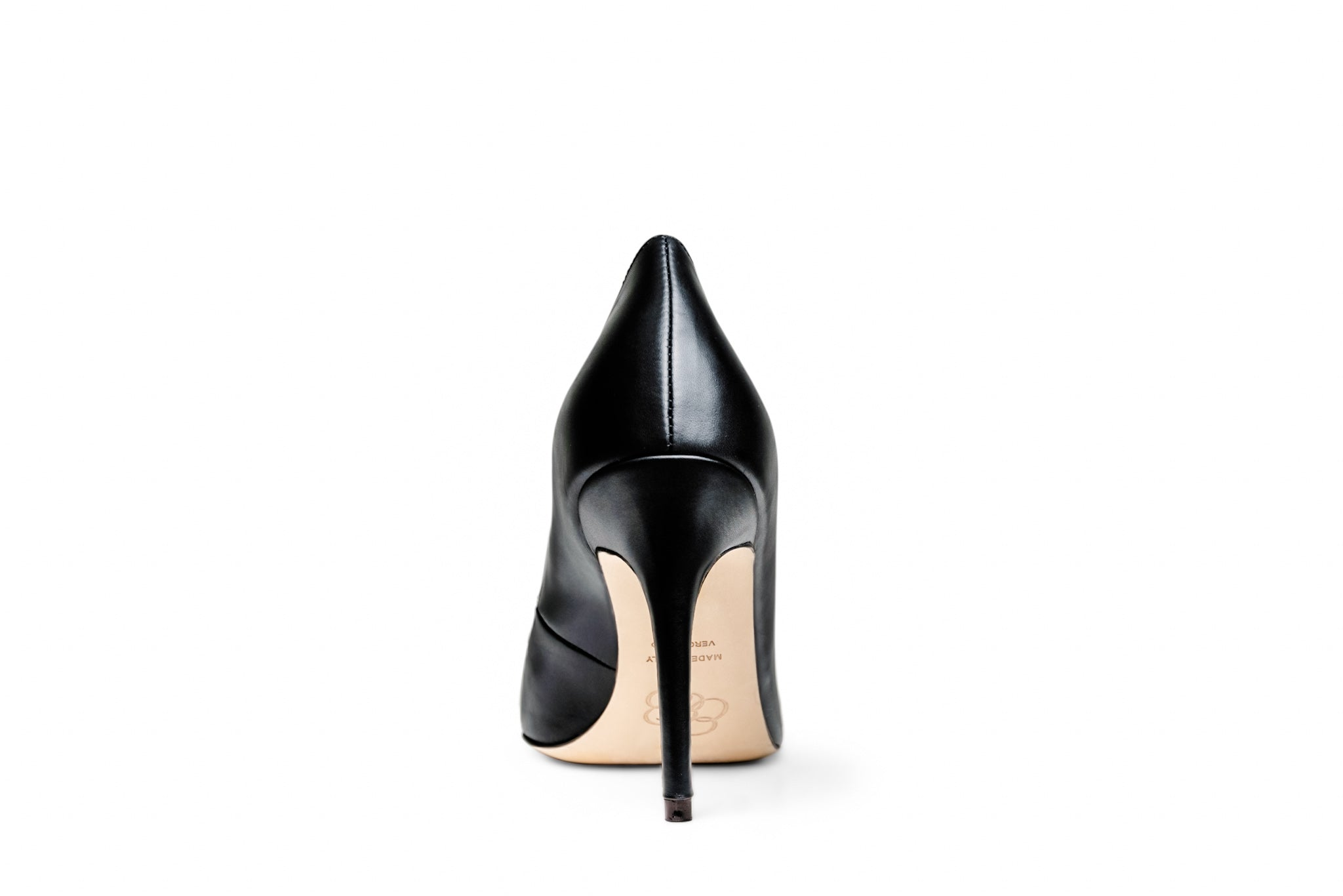 The Black Collection - 95mm Heel in Italian Nappa Leather