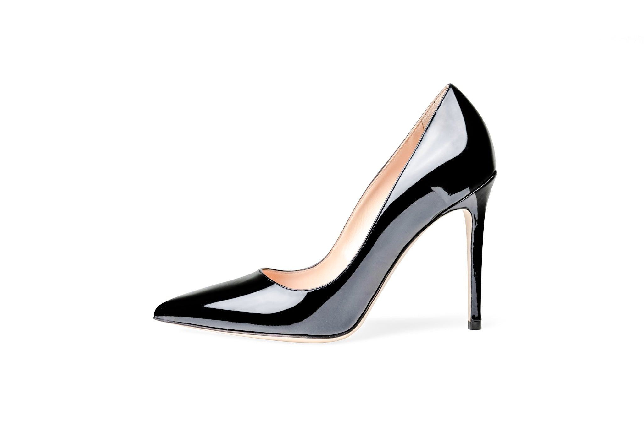 The Black Collection - 105mm Heel in Italian Patent Leather