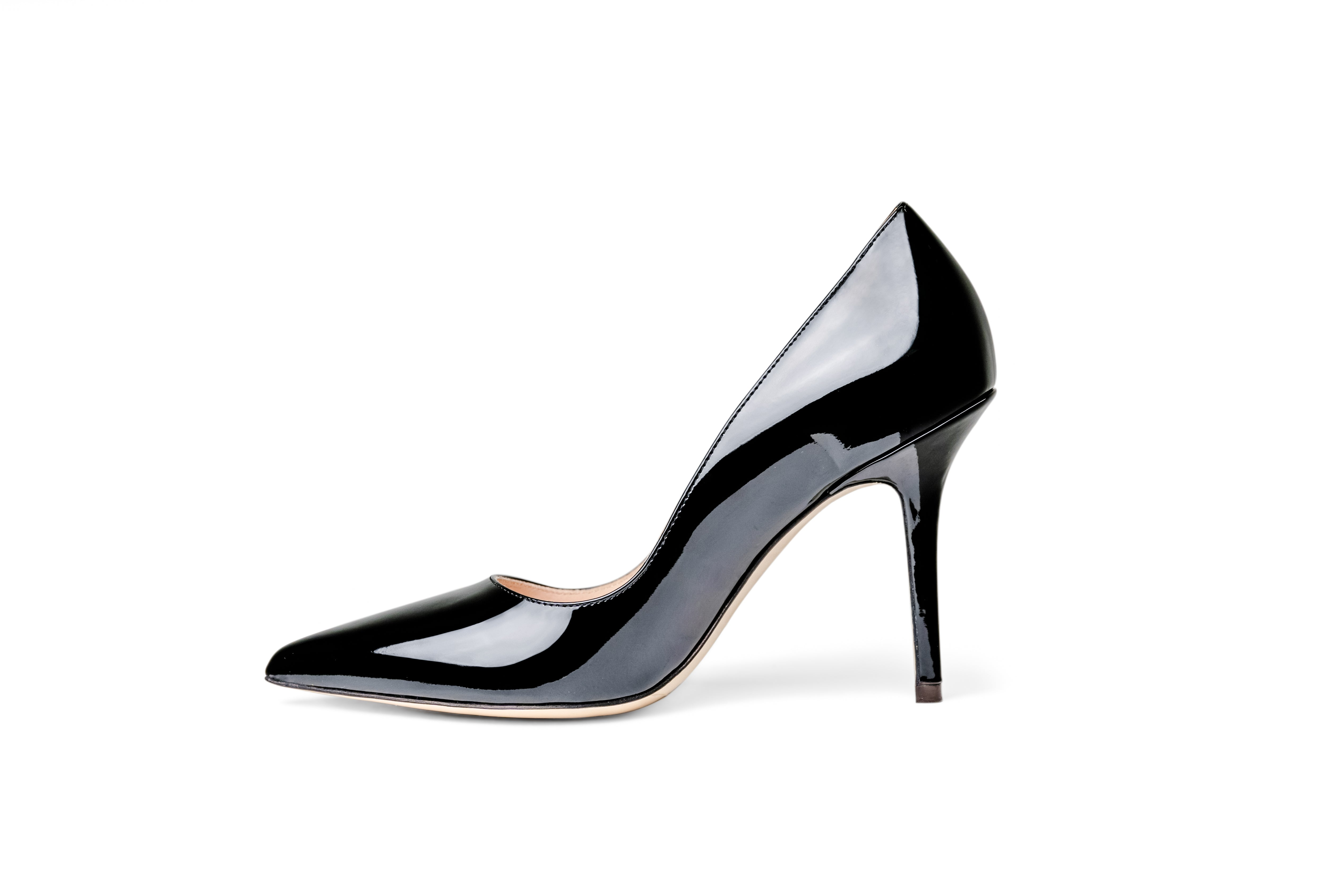 The Black Collection - 95mm Heel in Italian Patent Leather