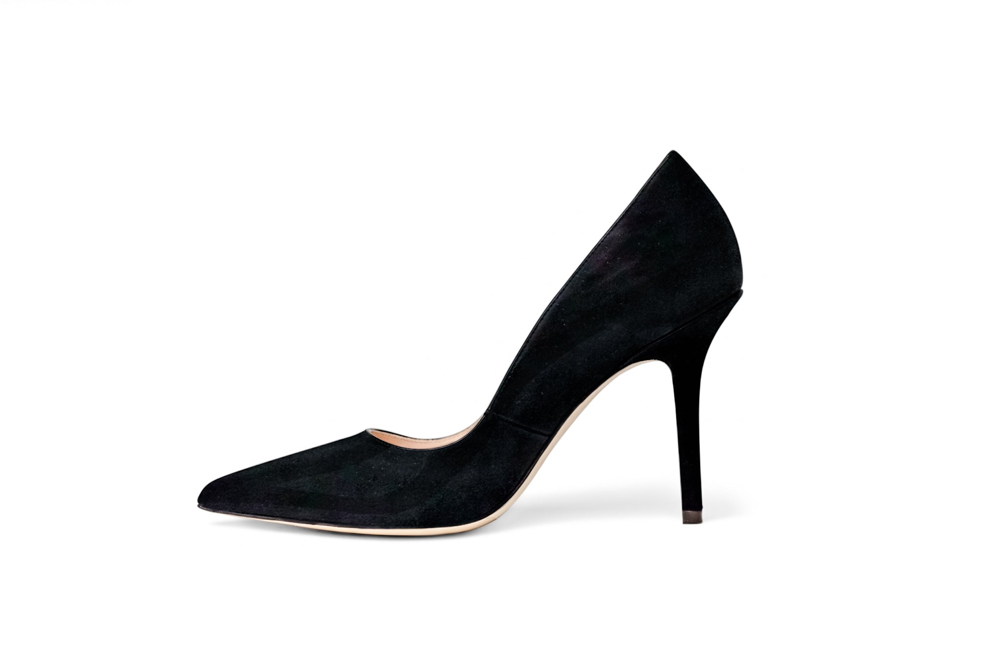 The Black Collection - 95mm Heel in Italian Suede