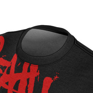 READY FOR WAR All Over Print Tee Shirt Paint Blood Red