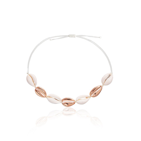Shell Choker Rose Gold