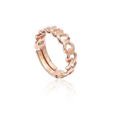 Tubes Ring Rose Gold