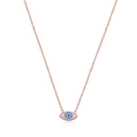 Nazar Necklace Rose Gold
