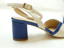 Upload the image to the Gallery Viewer, Two-Tone Sandals with Ankle Strap