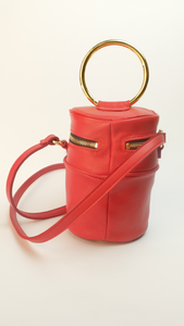 VERUSCHKA Meteor by SG83 - Red leather cylinder bag