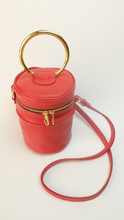 Upload the image to the Gallery viewer, VERUSCHKA Meteor by SG83 - Red Leather Cylinder Bag