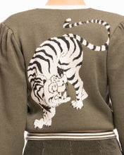 Upload the image to the Gallery Viewer, Cardigan Bomber Tiger Design