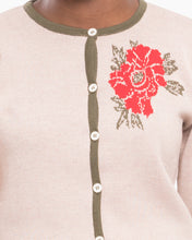 Upload the image to the Gallery Viewer, Peony Detail Wool Cardigan