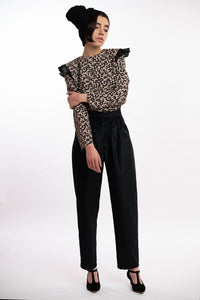 Pinces Black Corduroy Trousers