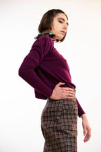 Upload the image to the Gallery Viewer, Burgundy Puff Sleeve Sweater