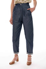 Upload the image to the Gallery Viewer, Light Denim Pleated Trousers