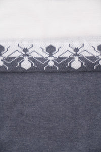 Small Ants Detail Cotton Sweater
