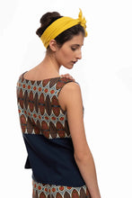 Upload the image to the Gallery viewer, Ethnic Style Print Cross Top