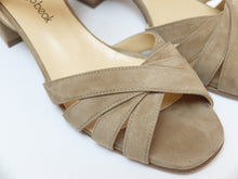 Upload your image to the Gallery Viewer, Low Heel Suede Sandals