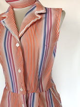 Upload the image to the Gallery Viewer, Striped Button Dress