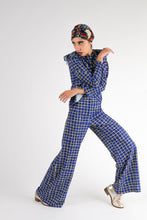 Upload your image to the Gallery Viewer, Checked Wide Leg Pants