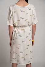 Upload the image to the Gallery Viewer, Little Sharks Patterned Dress with Drawstring