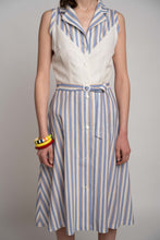 Upload the image to the Gallery viewer, Sleeveless Striped Pinafore Dress