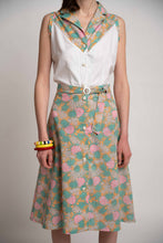Upload the image to the Gallery Viewer, Pineapple Pattern Sleeveless Pinafore Dress