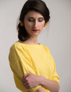 Yellow cotton sweater